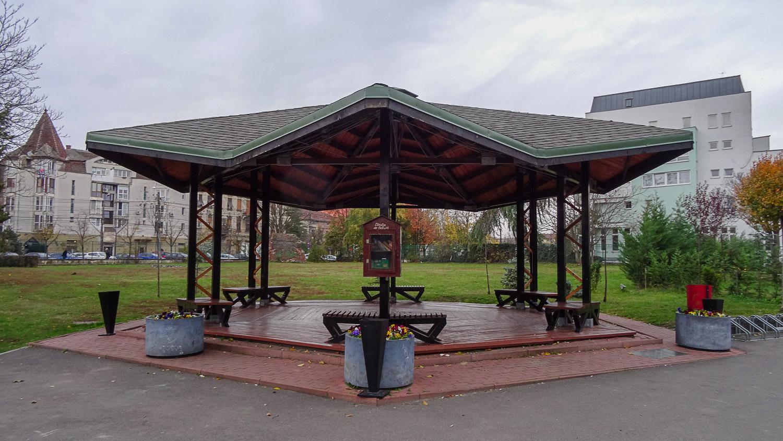 Беседка в ботаническом парке