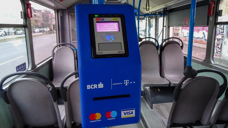 Автомат по продаже билетов в автобусе