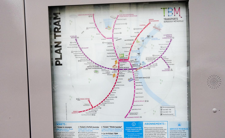 Карта трамвайных путей