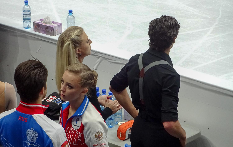 Александра Степанова и Иван Букин перед своей тренировкой