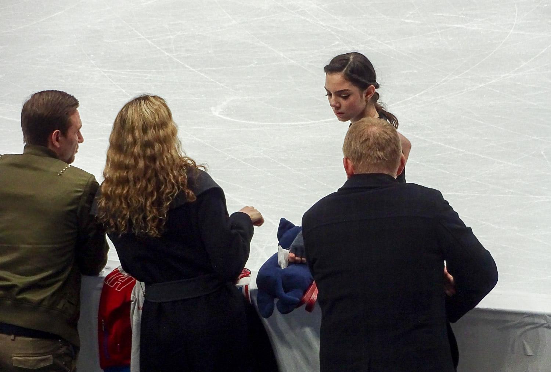 Евгения Медведева с тренерами