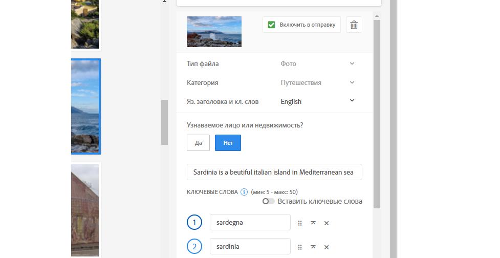 Заполнение информации на Adobe