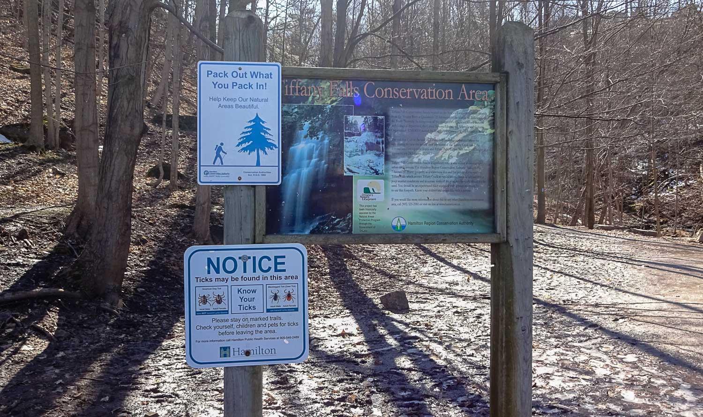 Tiffany Falls Side Trail