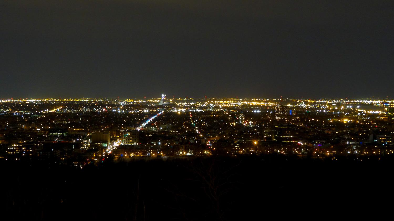 Вид на вечерний Монреаль