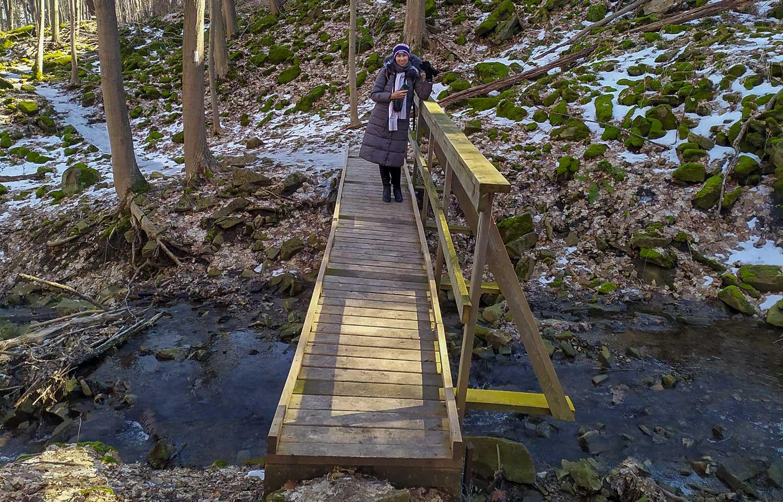 Милый деревянный мостик
