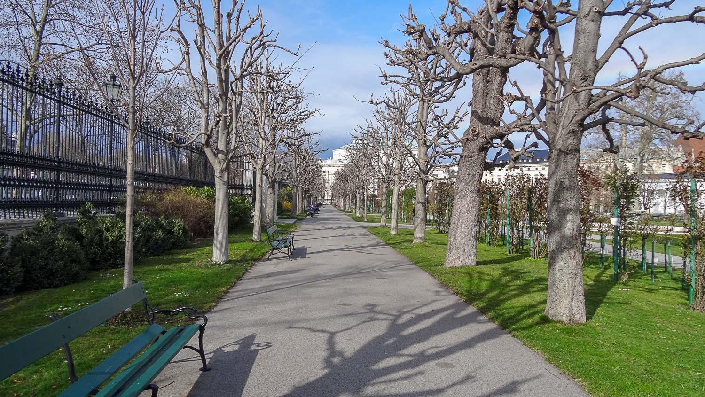 Аллея в парке Ратхаус