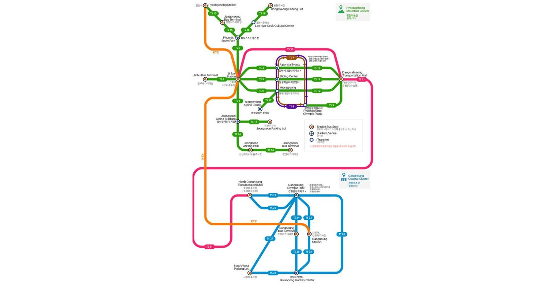 Схема транспорта на время ОИ