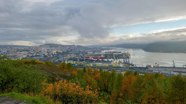 Мурманск с высоты 173 метра