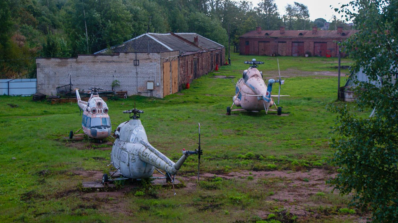 Нашли старые вертолеты