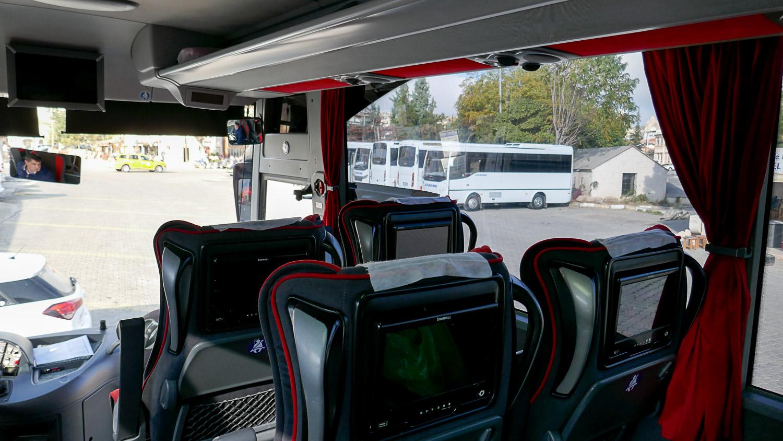 Развлекательные экраны. Автобус из Гёреме в Конью