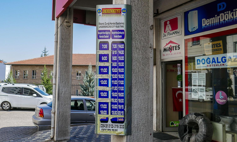 Расписание автобусов из Невшехира в Деринкую