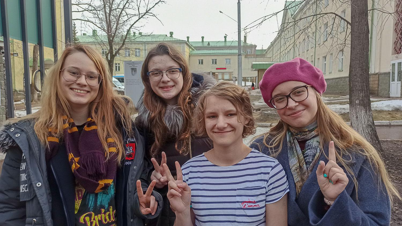 Даша, Даша, Яна и Элина